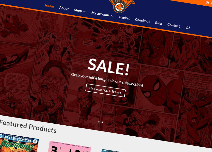 Welcome to the brand spanking new Piranha Comics website!