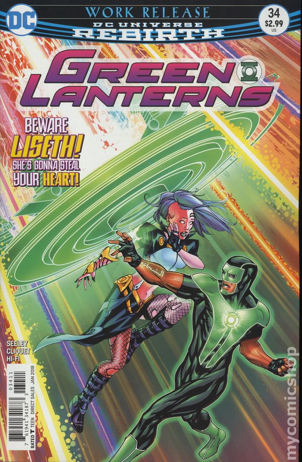 green lanterns 34 2016 vf nm dc piranha comics