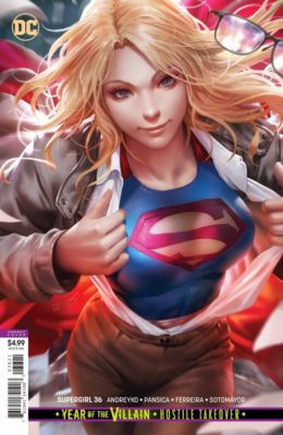 SUPERGIRL #36 CARD STOCK VARIANT EDITION (2016) VF/NM DC