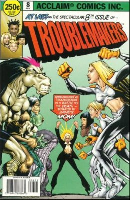 TROUBLEMAKERS #8 (1996) VF ACCLAIM