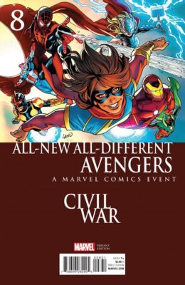 ALL NEW ALL DIFFERENT AVENGERS #8 LAND CIVIL WAR VARIANT (2015) VF/NM MARVEL