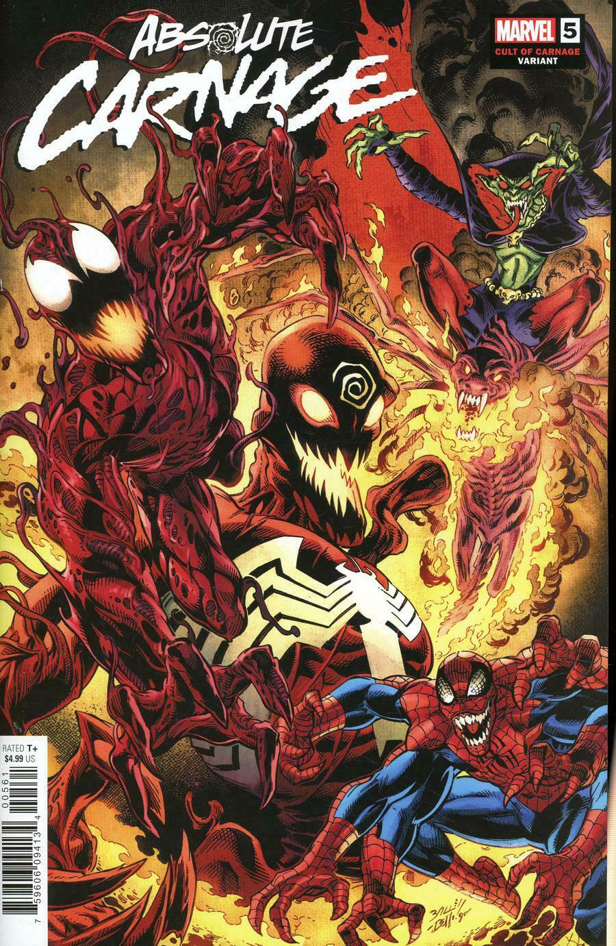 ABSOLUTE CARNAGE #5 1:25 BAGLEY CULT OF CARNAGE VARIANT (2019) VF/NM MARVEL
