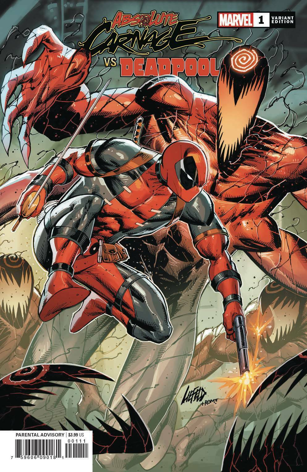 ABSOLUTE CARNAGE VS. DEADPOOL #1 LIEFELD VARIANT (2019) VF/NM MARVEL