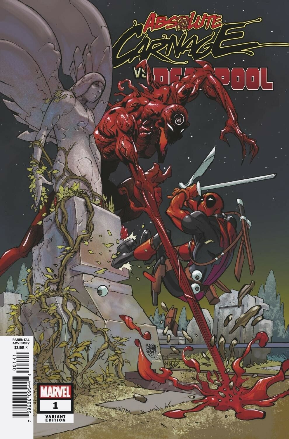 ABSOLUTE CARNAGE VS. DEADPOOL #1 FERRY VARIANT (2019) VF/NM MARVEL