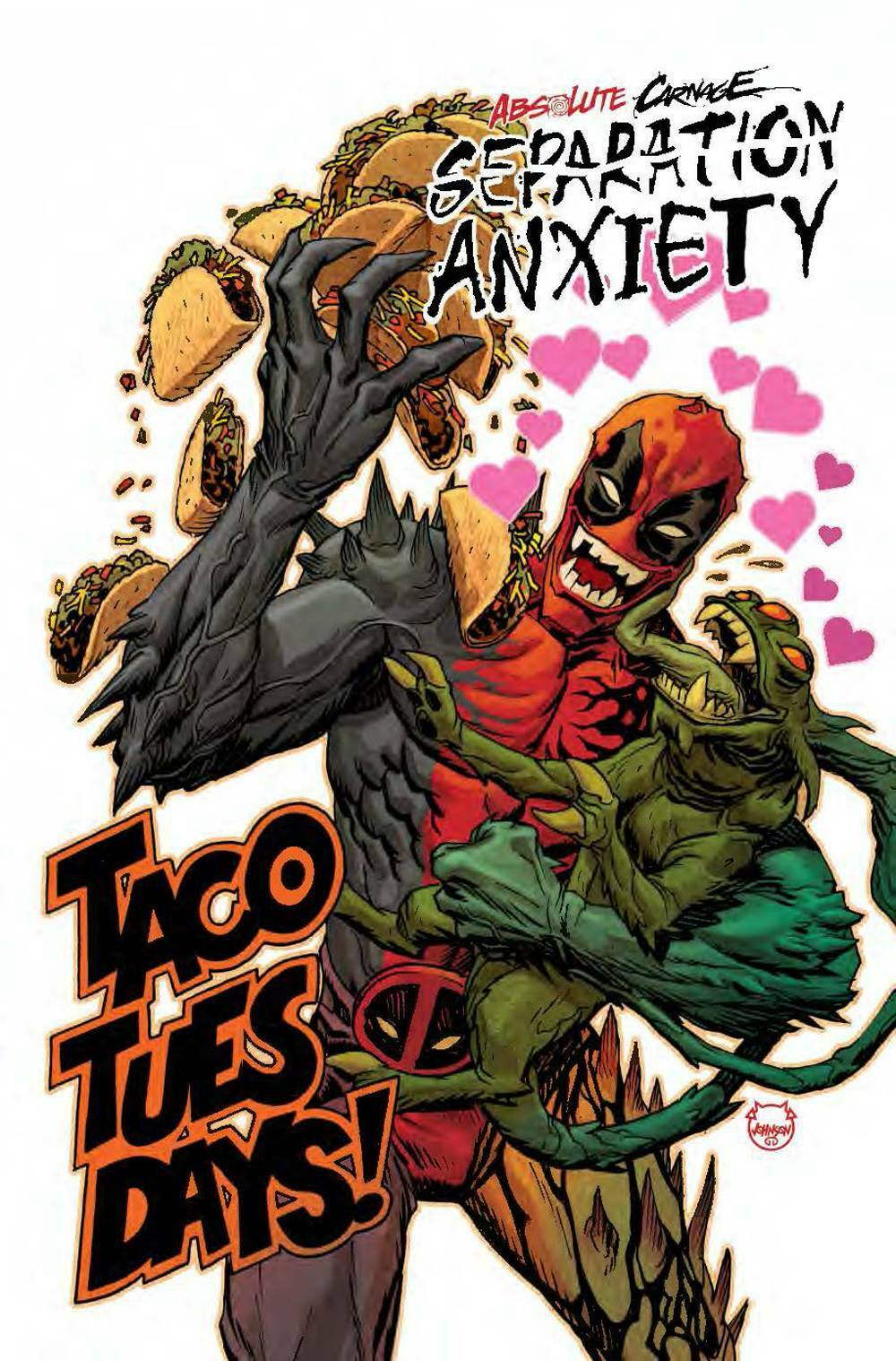 ABSOLUTE CARNAGE SEPARATION ANXIETY #1 1:25 JOHNSON CODEX VARIANT (2019) VF/NM MARVEL