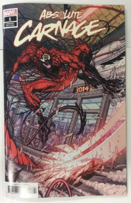 ABSOLUTE CARNAGE #1 1:50 BRADSHAW VARIANT (2019) VF/NM MARVEL