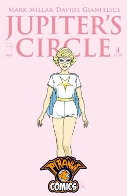 JUPITER'S CIRCLE #4 COVER B QUITELY CHARACTER DESIGN (2015) PRE-OWNED IMAGE