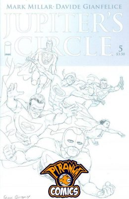 JUPITER'S CIRCLE #5 COVER C FRANK QUITELY BLACK & WHITE COVER (2015) PRE-OWNED IMAGE
