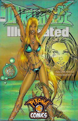 DARKCHYLDE ILLUSTRATED #1: COMMEMORATIVE CHROME BIKINI ED VAR W/S RANDY QUEEN NO COA (1997) VF/NM IMAGE MEGA SCARCE