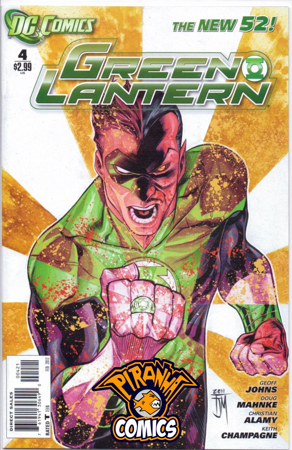 GREEN LANTERN #4 VARIANT (2011) VF/NM DC