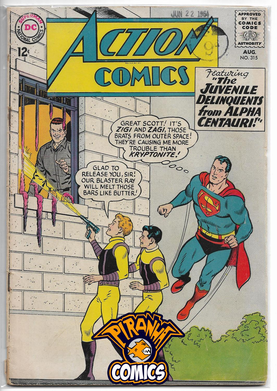 ACTION COMICS #315 (1938) GD DC