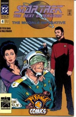 STAR TREK: THE NEXT GENERATION - THE MODALA IMPERATIVE #4 (1991) VF/NM DC