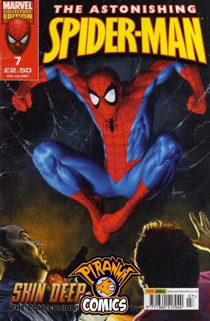 ASTONISHING SPIDER-MAN #7 (2007) PRE-OWNED PANINI