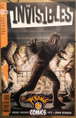 THE INVISIBLES #2 (1997) STICKER COPY VERTIGO