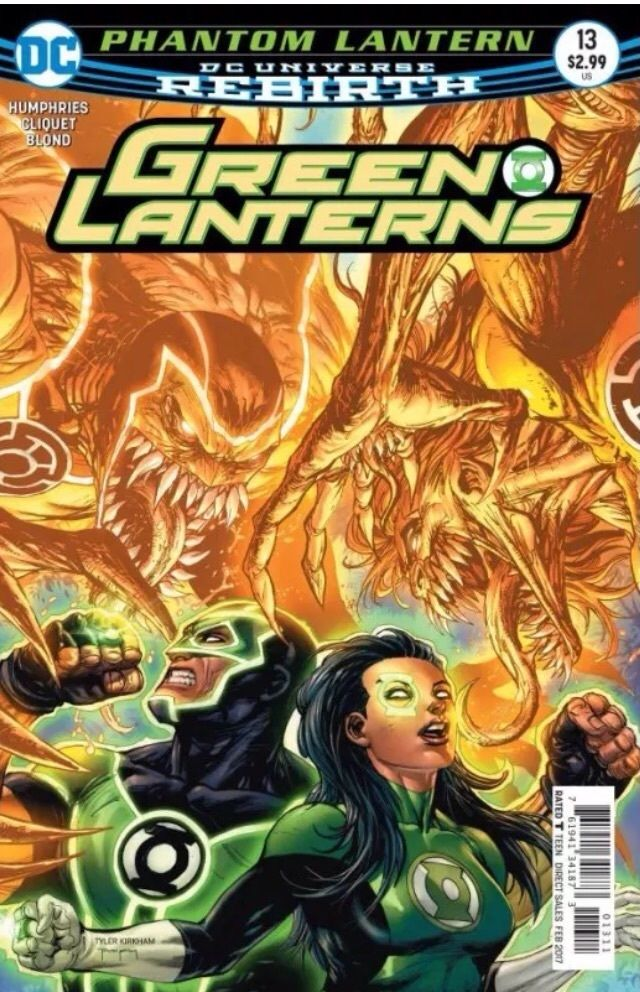 green lanterns 13 rebirth 2016 vf nm dc scarce piranha comics