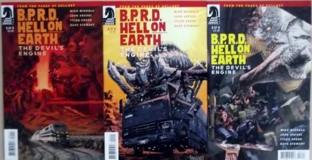 BPRD HELL ON EARTH: THE DEVILS ENGINE 1-3 COMPLETE SET VF/NM DARK HORSE  SCARCE